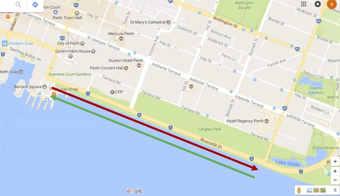 google maps Perth Kings Park